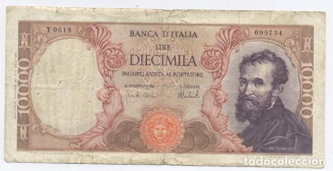ITALIA-10000 LIRAS (Numismática - Notafilia - Billetes Internacionales)