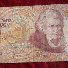 Billetes extranjeros: PORTUGAL. BILLETE DE 500 ESCUDOS. 1988.. Lote 77230685