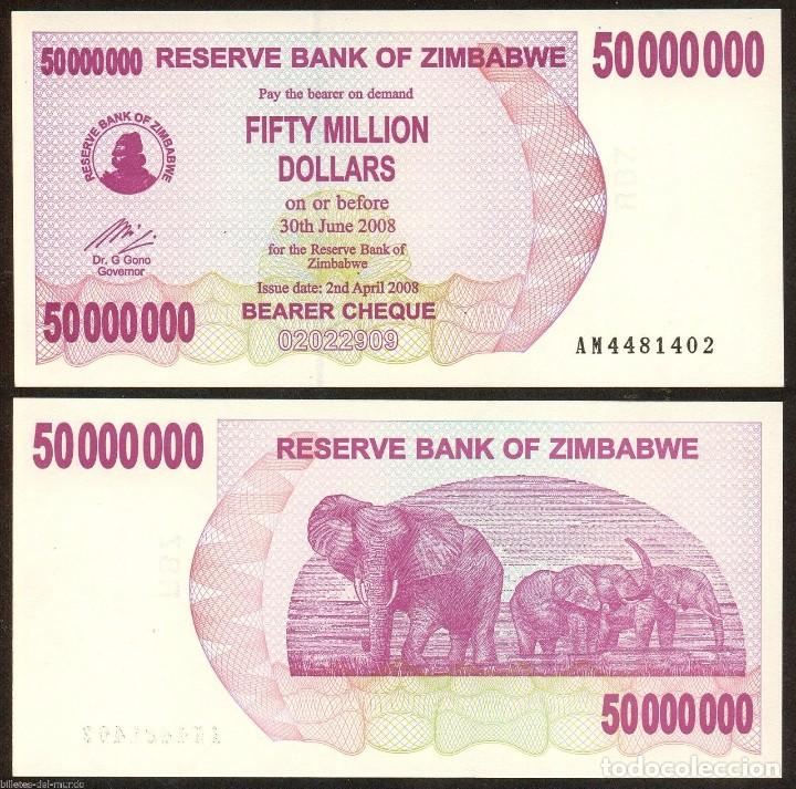 UNC. ZIMBABWE 100 MILLION DOLLARS 2008 PICK # 80