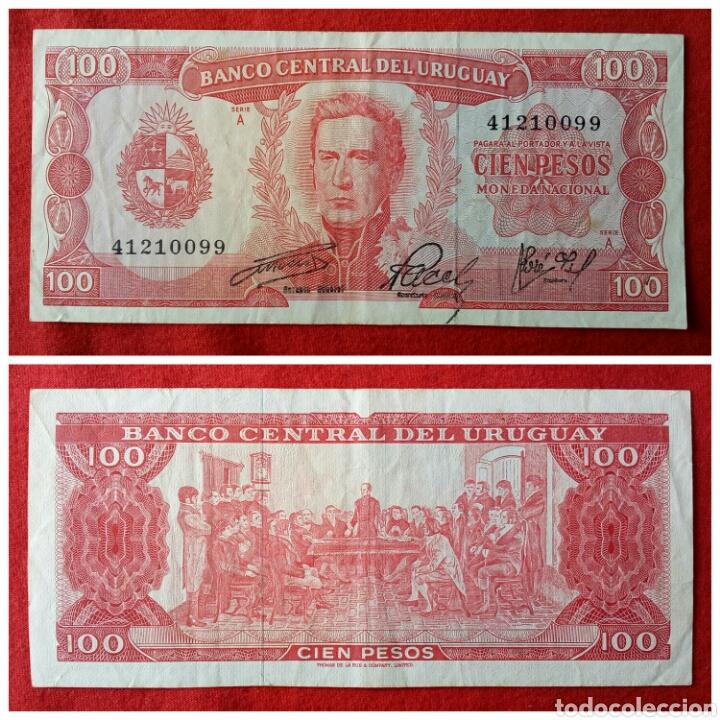 BILLETE DE URUGUAY 100 PESOS (Numismática - Notafilia - Billetes Extranjeros)