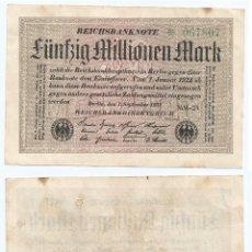 Billetes extranjeros: ALEMANIA - GERMANY 50.000.000 MARK 1923 PICK 109.B. Lote 78689593