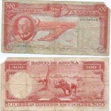 Billetes extranjeros: ANGOLA 500 ESCUDOS 1970 PICK 97. Lote 78690501