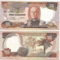Billetes extranjeros: ANGOLA 100 ESCUDOS 1972 PICK 101. Lote 78942057