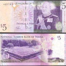 Billetes extranjeros: TONGA - 5 PA'ANGA - SIN FECHA (2008) - S/C. Lote 96019770