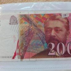Billetes extranjeros: FRANCIA 200 FRANCOS. Lote 80058663