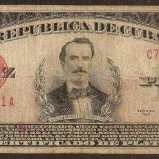 Billetes extranjeros: CUBA. 10 PESOS 1945. PICK 71F. CERTIFICADO DE PLATA.. Lote 80277383