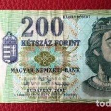 Billetes extranjeros: BILLETE DE 200 FLORINES - HUNGRÍA . Lote 80400193