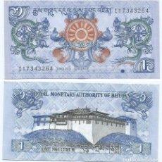 Notas Internacionais: BUTAN - BHUTAN 1 NGULTRUM 2013 PICK 27.B. Lote 80488029