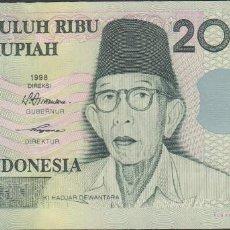 Billetes extranjeros: BILLETES INDONESIA - 20.000 RUPIAS 1998/98 - SERIE YTK032916 - PICK-138A (SC). Lote 192140247