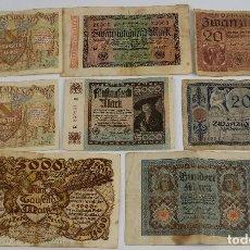 Billetes extranjeros: 8 BILLETES REICHSBANKNOTE AÑOS 1922,1915,1920,1926 Y 1923-ALEMANIA. Lote 80857875