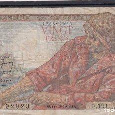Billetes extranjeros: 0306 BILLETE FRANCIA CIRCULADO. Lote 81477548