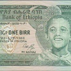 Notas Internacionais: BILLETES ETHIOPIA - 1 BIRR L.EE1969 - SERIE DP3075729 - PICK-41A (SC). Lote 207277907