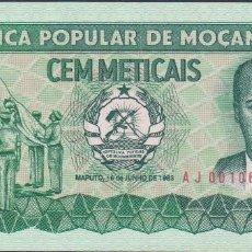 Billetes extranjeros: BILLETES MOZAMBIQUE - 100 METICAIS 1983 - SERIE AJ 0010679 - PICK-130A (SC). Lote 147107806