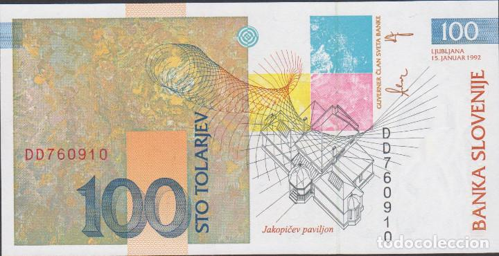 Billetes extranjeros: BILLETES ESLOVENIA - 100 tolarjev 1992 - serie LK467828 - pick-14 (SC) - Foto 2 - 174059529