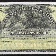 Billetes extranjeros: COSTA RICA 5 PESOS 1899 S/C. Lote 81891548