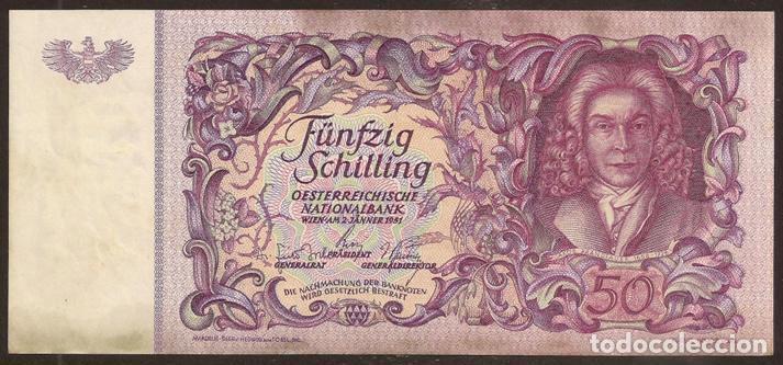 AUSTRIA. BONITO 50 SCHILLING 2.1.1951. PICK 130. (Numismática - Notafilia - Billetes Internacionales)