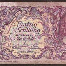Billetes extranjeros: AUSTRIA. BONITO 50 SCHILLING 2.1.1951. PICK 130.. Lote 82035512