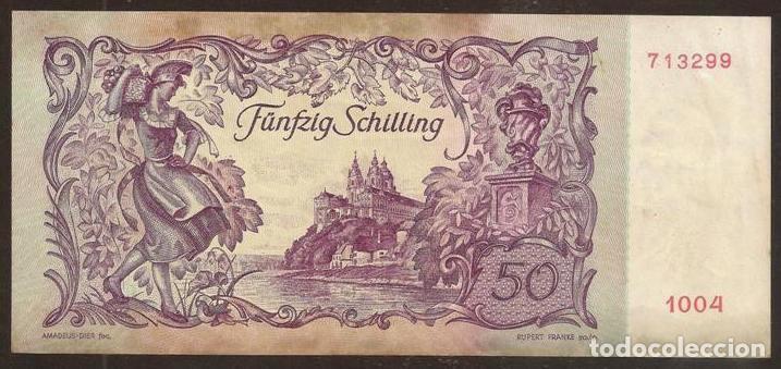 Billetes extranjeros: AUSTRIA. Bonito 50 schilling 2.1.1951. Pick 130. - Foto 2 - 82035512