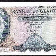 Billetes extranjeros: GRAN BRETAÑA 5 POUNDS (ND) 1957/1963 S/C-. Lote 82382584