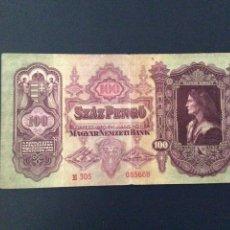 Billetes extranjeros: HUNGRÍA 100 PENGO 1930. Lote 82480987