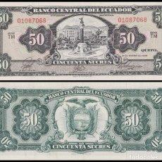 Billetes extranjeros: ECUADOR 50 SUCRES 1966. PICK 116.. Lote 83332208