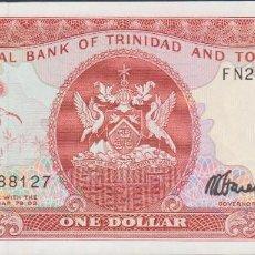 Billetes extranjeros: BILLETES TRINIDAD Y TOBAGO - 1 DOLLAR (1985) SERIE FN288119 - PICK-36C (SC). Lote 175367100