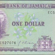 Billetes extranjeros: BILLETES JAMAICA - 1 DOLLAR - 1990 - SERIE EC 527070 - PICK-68AD (SC). Lote 180967676