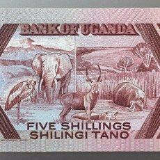 Billetes extranjeros: UGANDA. 5 SHILLINGS. Lote 83820470