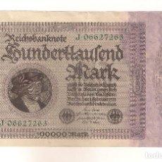 Billetes extranjeros: BILLETE DE ALEMANIA DE 100.000 MARCOS DE 1923. EBC+ CATÁLOGO WORLD PAPER MONEY-83B. (BE166).. Lote 84332052