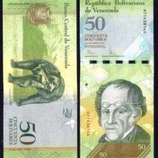 Billetes extranjeros: VENEZUELA - 50 BOLIVARES - 3 DE SEPTIEMBRE DE 2009 - S/C. Lote 126058139