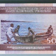 Billetes extranjeros: BURUNDI. 50 FRANCOS. Lote 84660507