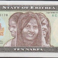 Billetes extranjeros: BILLETES - ERITREA - 10 NAKFA 24-5-1997 - SERIE AC 5060170 - PICK-3 (SC). Lote 128321590