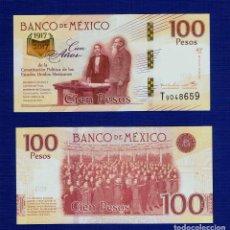 Billetes extranjeros: MEXICO : 100 PESOS 2016 ( CONMEMORATIVO 100 AÑOS DE LA CONSTITUCIÓN ) SC.UNC.. PK.NUEVO. Lote 95439207