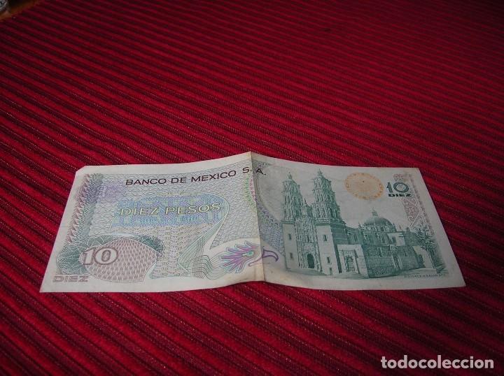 Billetes extranjeros: Billete de México,10 pesos .Año 1971 - Foto 2 - 85030788