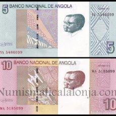 Billetes extranjeros: ANGOLA SET 2 BILLETES 5 Y 10 KWANZAS 2012 (2017) PICK NUEVO SC UNC. Lote 206972075
