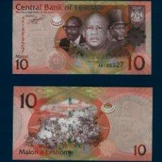 Billetes extranjeros: LESOTHO - LESOTO : 10 MALOTI 2010 SC.UNC. PK. 21. Lote 194743040