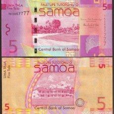 Billetes extranjeros: SAMOA. BONITO 5 TALA S/F 2008. PICK 38. S/C. VER FIRMAS.. Lote 245951655
