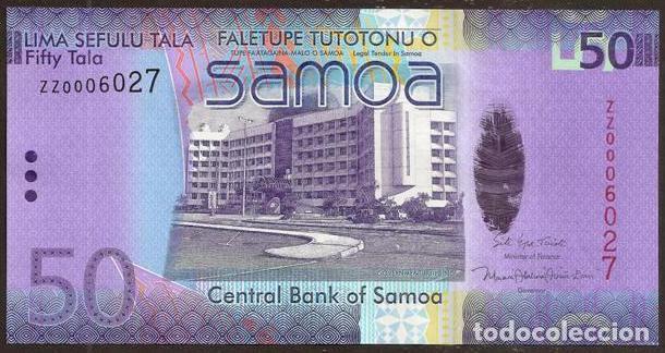 SAMOA. BONITO 50 TALA S/F 2008. PICK 41. S/C. VER FIRMAS. HIBRIDO. REPOSICION - SERIE ZZ. (Numismática - Notafilia - Billetes Internacionales)