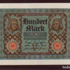 Billetes extranjeros: PRECIOSO BILLETE ALEMANIA 100 MARCOS 1920 PLANCHA EL DE LAS FOTOS VER TODOS MIS LOTES DE BILLETES. Lote 85813320