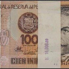 Billetes extranjeros: PERU 100 BILLETES 100 INTIS 1987 S/C. Lote 86075468