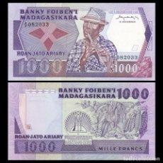 Billetes extranjeros: MADAGASCAR - 1000 FRANCS - SIN FECHA (1983) - S/C. Lote 86396492