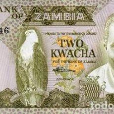 Billetes extranjeros: [CF2128] ZAMBIA 1980, 2 KWACHA (UNC). Lote 237423335
