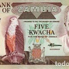 Billetes extranjeros: [CF2129] ZAMBIA 1980, 5 KWACHA (UNC). Lote 237423545