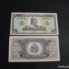 Billetes extranjeros: PRECIOSO BILLETE PLANCHA DE HAITI 1 GOURDE DEL AÑO 1992 VER TODOS MIS LOTES DE BILLETES. Lote 244581845