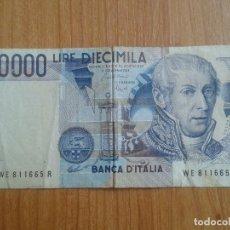 Billetes extranjeros: BILLETE -- 10000 LIRE DIECIMILA -- ITALIA -- . Lote 86945520