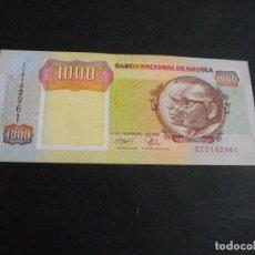 Billetes extranjeros: PRECIOSO BILLETE DE ANGOLA 1000 KWANZAS DEL AÑO 1991 VER TODOS MIS LOTES DE BILLETES. Lote 87307052