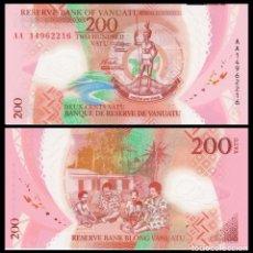 Billets internationaux: VANUATU 200 VATU 2014. POLÍMERO. PICK 14. SC. Lote 187845313