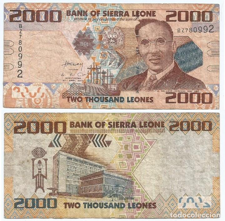 SIERRA LEONA 2.000 LEONES 2010 PICK 31 (Numismática - Notafilia - Billetes Extranjeros)