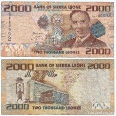 Billetes extranjeros: SIERRA LEONA 2.000 LEONES 2010 PICK 31. Lote 88210272