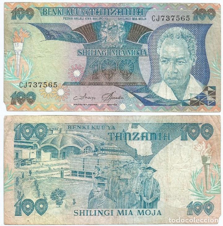 TANZANIA 100 SHILINGI 1986 PICK 14.A REF 1287 (Numismática - Notafilia - Billetes Extranjeros)